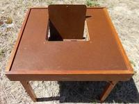 Antique 1940's Childs Play Table BABEE TENDA CHAIR.