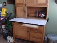 Totally original anitque ash kitchen cabinet. I am the