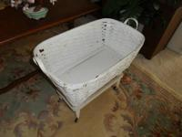 Antique Bassinet, 33 wide x 27 high x 18 deep $49 Greer