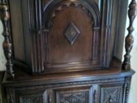 For Sale is an Antique Mahogany and Oak Cabinet that I