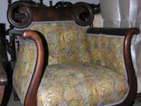 H: 40.5 W:30 D:24.5 inches 19th Century Cushion molded