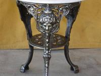 English Pub Table with Marble Top The table is 26