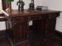Antique Belgium desk from late 1800's to early 1900's.