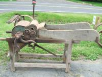 Antique Fodder Cutter. Made by Daniel Hulshizer,
