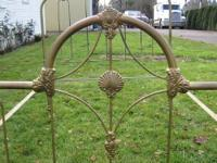 This is a vintage full size (double) iron bed frame