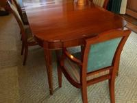 "Beautiful Antique Mahogany Dining TableMeasures 66""L"
