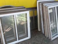For sale are a lot of antique old vintage 2 pane sash