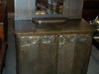 beautiful vintage ornate cubbard cabinet in good