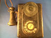 Antique Wall Mount Phone.  Phone is taken however all