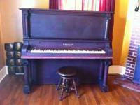 Antique piano by B. Scherpe & Co. out of Chicago, IL.