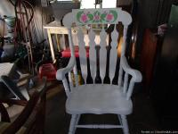 I have an old rocker that I restored. It is a pressed