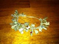 Collectible 1950's sterling silver charm bracelet. Very