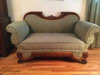 Antique combination Divan Sofa with High Back, Empire