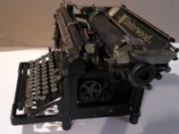 Manual full size typewriter, works. Has been stored for