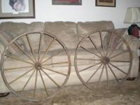 "I have two 32"" buggy wheels and one 36"" wagon wheel for"
