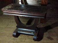 Antique wooden card table. Just needs a good dusting