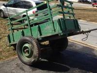 For Sale! Wooden trailer. Last on road March 1980. Well