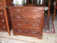Attractive old walnut chest of cabinets, probably from
