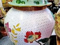 This early 1900 hand made cloisonne' jar came from