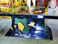 This original hand painted Chinese low table in black