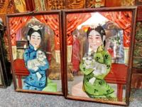 This is original hand painted Antique Chinese Reverse