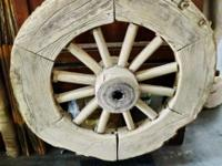 This old Chinese cart wheel came from Shanxi province,