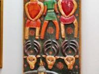 This original hand carved panel came from Rajasthan