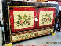 This beautiful hand painted cabinet came from Inner