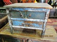 This old Indian rustic small cabinet came from