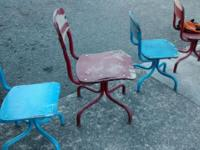 An Addorable Set Of Old School Chairs 2 Sizes - Give