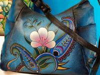 New Anuschka brand hand-painted leather shoulder bag
