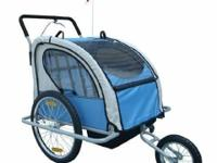 The Aosom Elite 2in1 double youngster bike trailer and