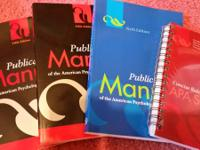 Two 5th edition Publication Manuals of the American
