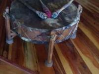 An Apache ceremonial drum made of horse hide instead of