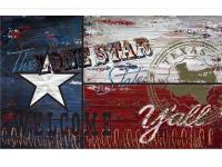 The Texas Flag 18 in. x 30 in. Recycled Rubber Door Mat