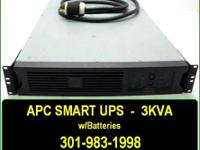 I have a barely used APC 3KVA Smart UPS for sale.