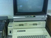 For Sale - Apple IIe with two 5 1/4 disc drives,