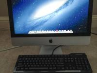 "For sale:.  Almost brand-new Apple iMac 21.5""running"