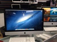"up for sale is a flawless iMac 27"" with apple mouse"