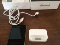 iPhone 4 in EXCELLENT condition. Has charger cable