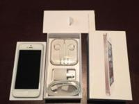 Used, white and silver iPhone 5 32 GB, from Sprint.