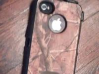 Has protective cover camo otterbox and indoor charger