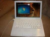 "WHITE APPLE MACBOOK 13"" manufactured late 2007, Intel"