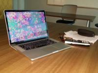 "Like new Macbook Pro 15"" retina 256GB HD with 8GB ram"