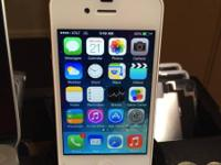 AT&T iPhone 4/White /$130 includes charger  Clean imei-