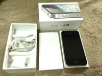 Black Apple iPhone Fours 64GB - Unlocked- GSM (Works w.