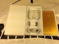 The Iphone 6 128gb new in box and no scratches The