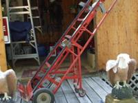 Appliance hand trucks with heavy duty ratchet system to