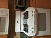 White appliance set, all in working order - GE range