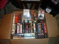 Lot of approx 75 VHS tapes. Good selection of movies
